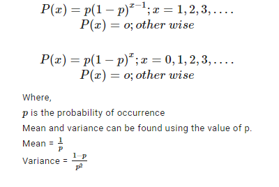 Geometric Distribution Formula