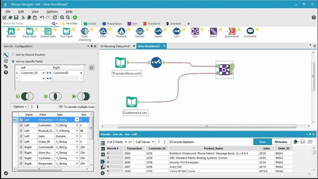Components in Alteryx Framework: